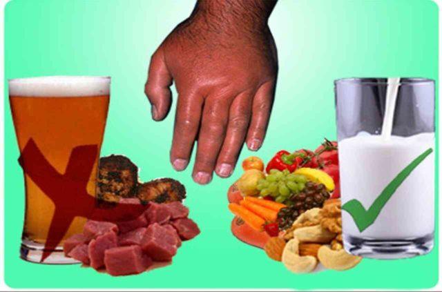 Соблюдение рекомендаций по питанию при подагре не является основным методом лечения подагры, но может помочь предотвратить или уменьшить тяжесть и частоту приступов заболевания